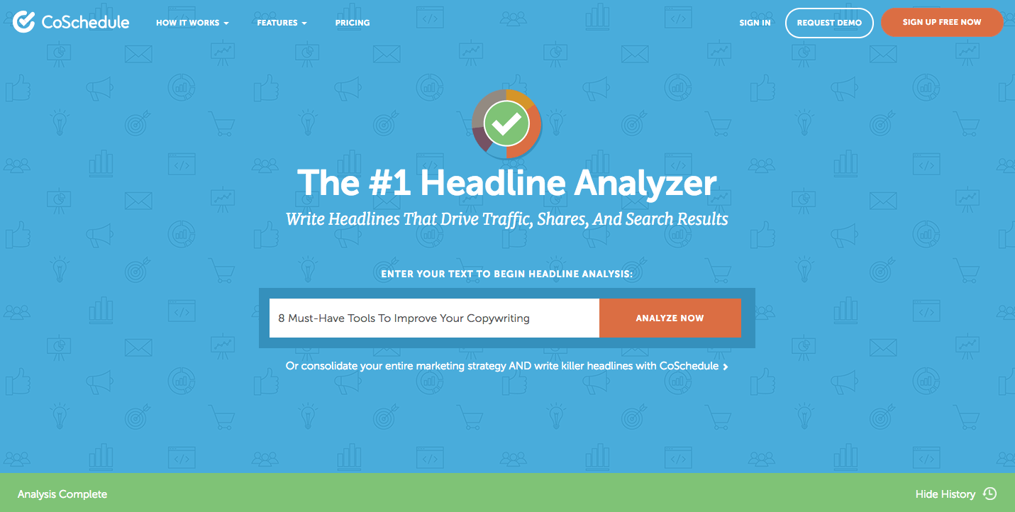 copywriting tool coschedule headline analyzer