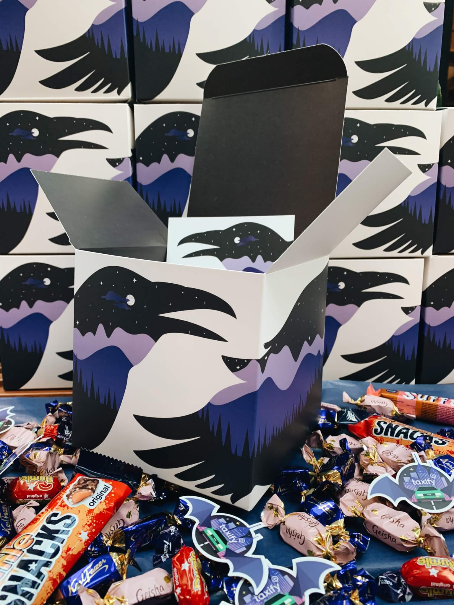 Hallowwen marketing event with packaging by Taxify