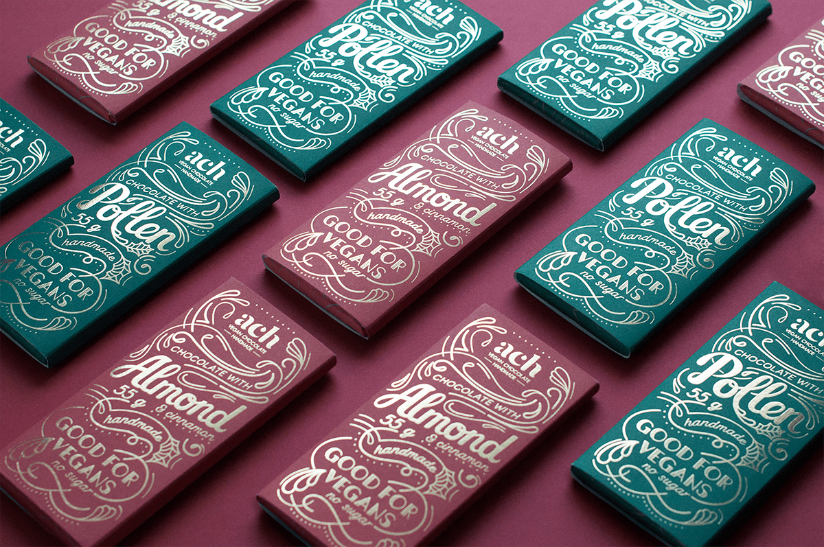 experience-driven packaging - hot-stamping on chocolate boxes