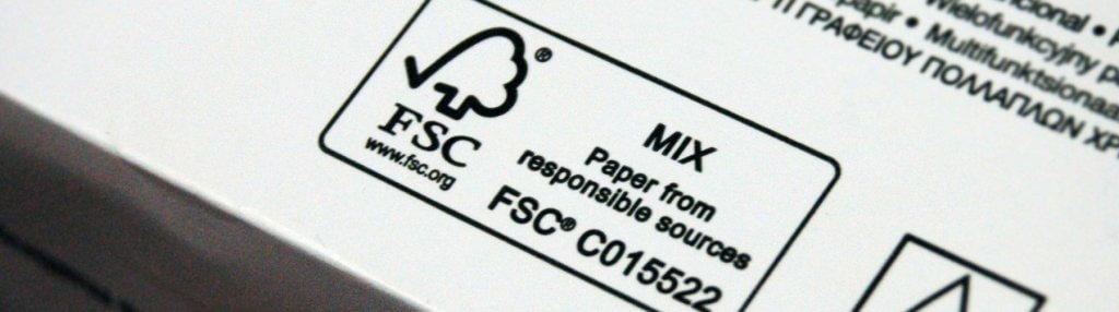 FSC certified cardboard