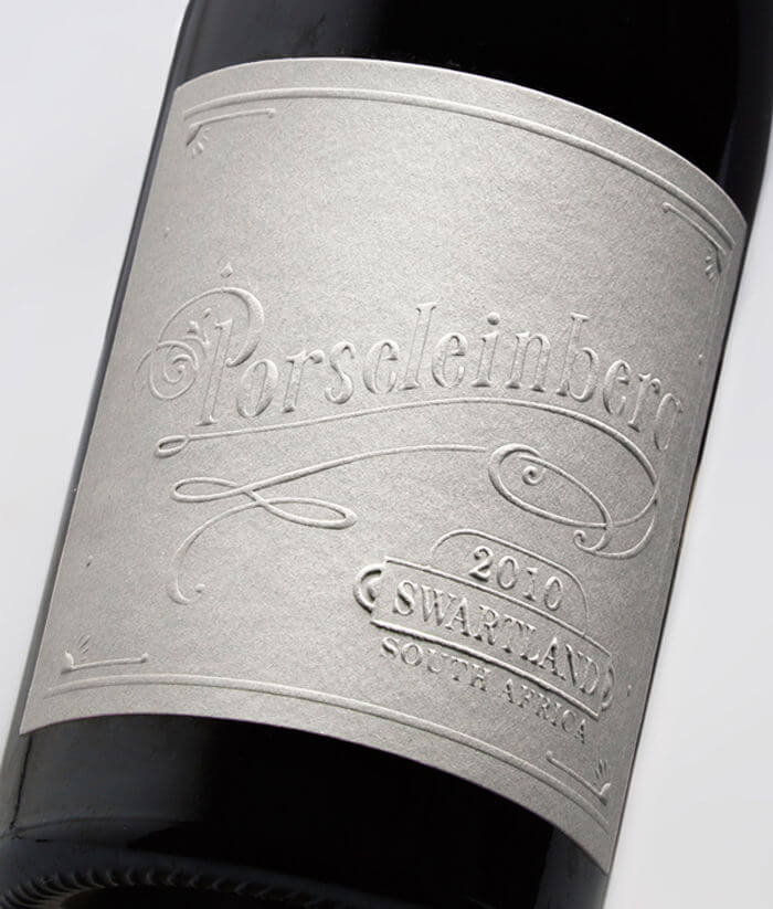 embossing on a wine label - packhelp pro