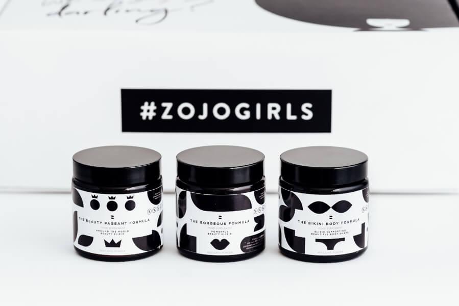 product line of zojo beauty elixirs