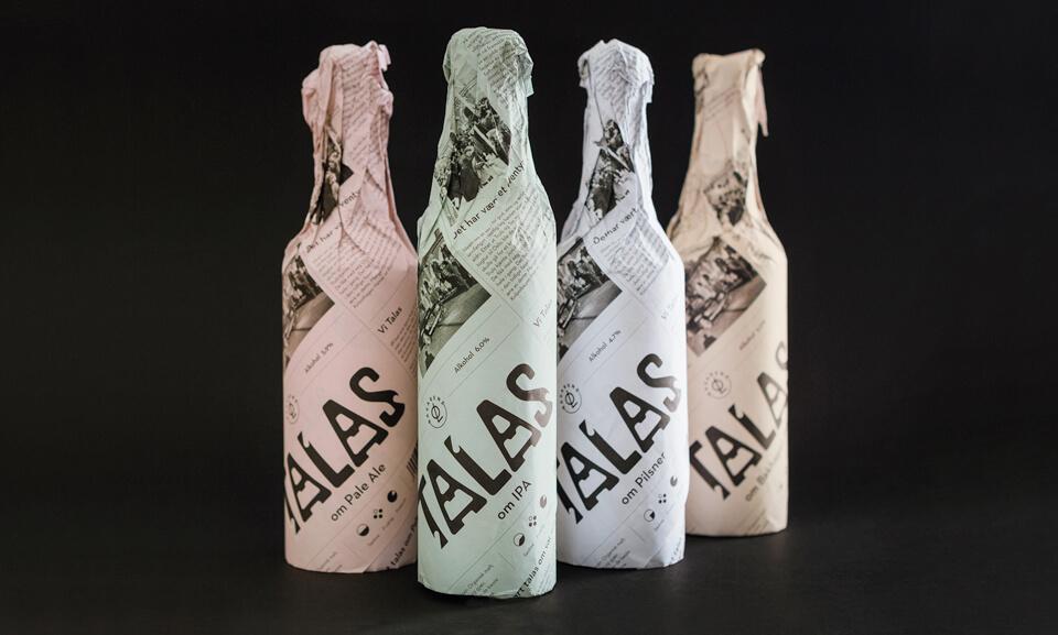 talas brewing beer packaging