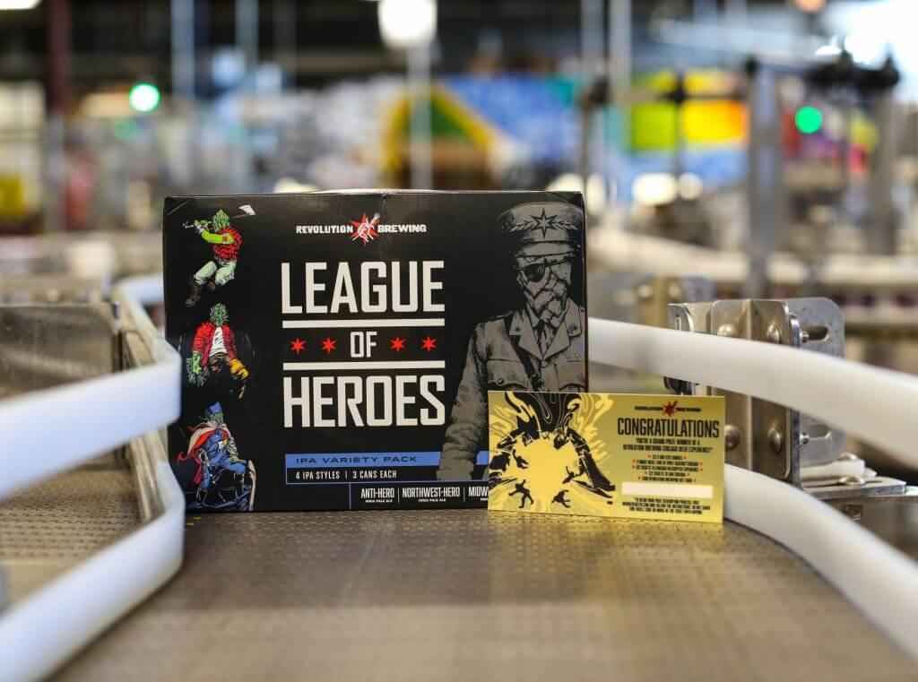 revolution brewing beer branding and packaging
