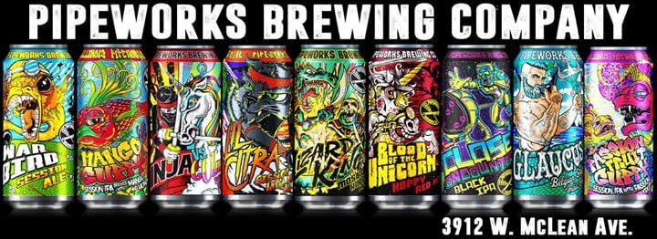 pipeworks brewing packaging design