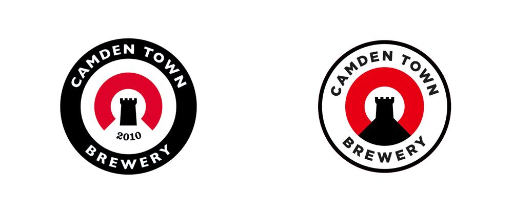 camden down brewing logo design