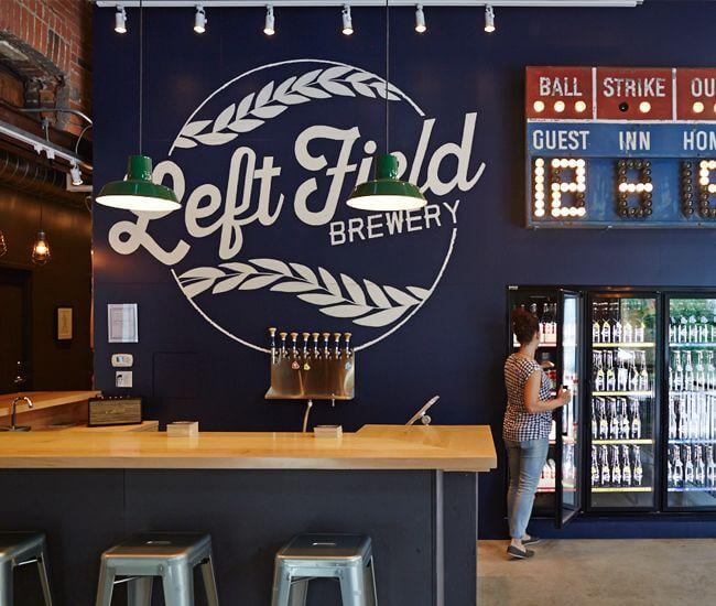 left field brewery branding