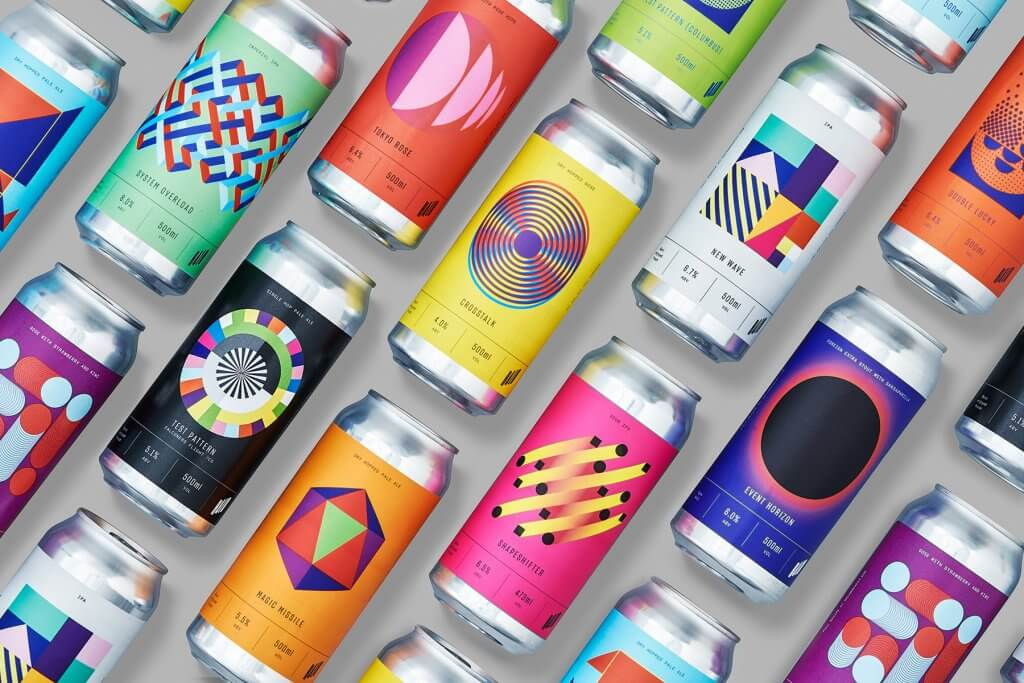 halo brewing packaging design